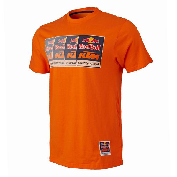 レッドブル MOTOGP KTM ファクトリーレーシング チームロゴTシャツ オレンジ
