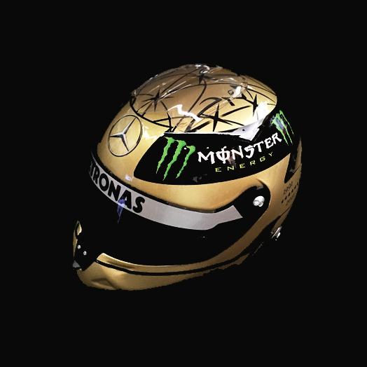 シューベルト 1/2スケール M.シューマッハ 20周年記念 ヘルメット 2011 ベルギーGP仕様