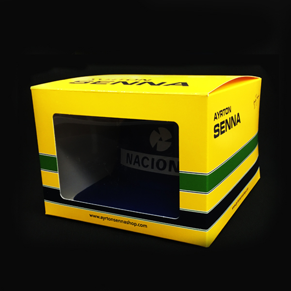 セナ財団公認商品 【復刻版】アイルトン・セナ NACIONAL(ナショナル)キャップ 初期ver 専用BOX付