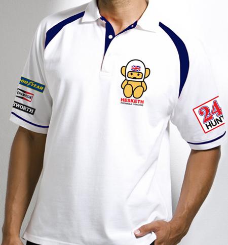 【SALE】F1レトロチームポロシャツ ヘスケス ポロシャツ