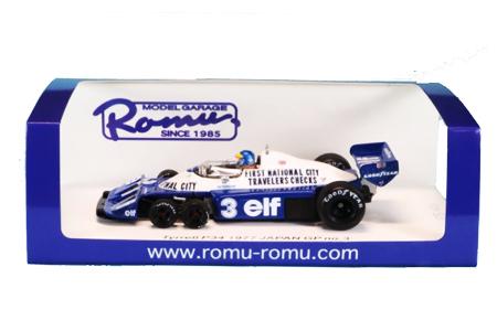 【再入荷】MODEL GARAGE ROMU ロム別注 スパーク 1/43 ティレルP34 R.ピーターソン 1977日本GP No.3 限定400台