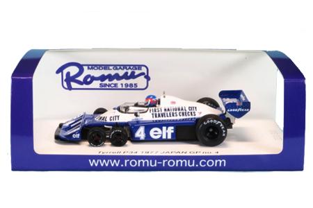 【再入荷】MODEL GARAGE ROMU ロム別注 スパーク 1/43 ティレルP34 P.ディパイエ 1977日本GP No.4 限定300台