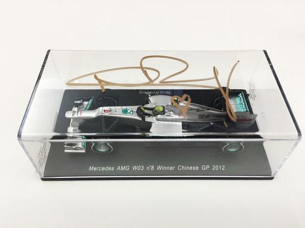 N.ロズベルグ 直筆サイン入 スパーク 1/43 メルセデスW03 2012年中国GP優勝モデル