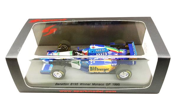 【再入荷】スパーク 1/43 ベネトン B195 M.シューマッハ 1995年モナコGP 当店オリジナル タバコロゴモデル