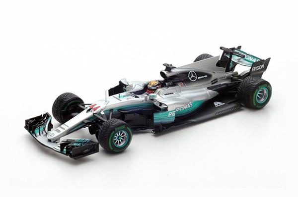 スパーク 1/43 メルセデス W08 L.ハミルトン 2017年中国GP優勝 No.44