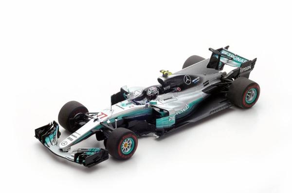 スパーク 1/43 メルセデスW08 V.ボッタス 2017年ロシアGP優勝 No.77