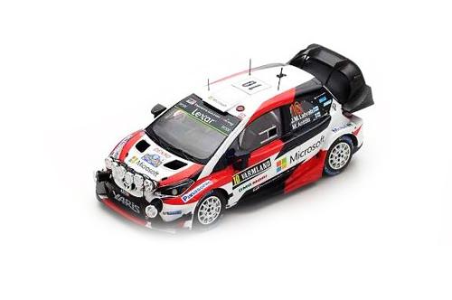 スパーク 1/43 トヨタ ヤリス WRC J-M.ラトバラ-M.アンティラ 2017年スウェーデンラリー優勝  No.10
