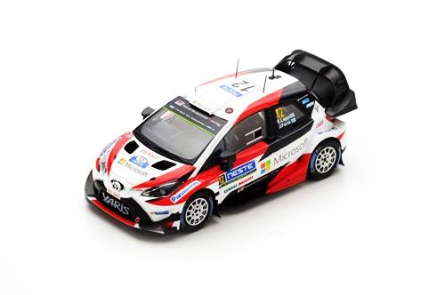 スパーク 1/43 トヨタ ヤリス WRC 2017年ラリーフィンランド優勝 No.12 E. Lappi(ラッピ)-J.. Ferm