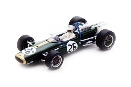 スパーク 1/43 ブラバム BT19 D.ハルム 1967年ベルギーGP No.26