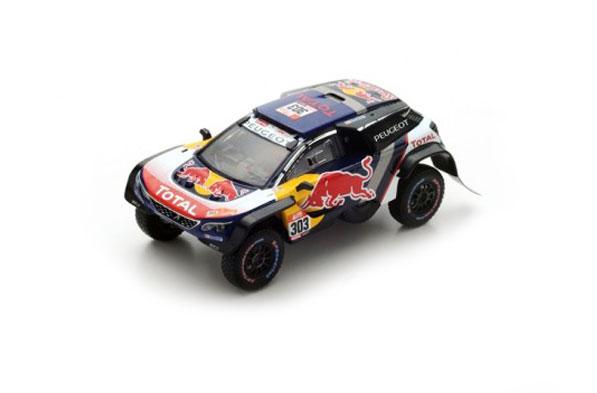 スパーク 1/43 プジョー 3008 DKR Maxi No.303 - Team Peugeot Total - 2018年ダカール優勝 C.サインツ-L.クルーズ