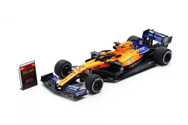 【2020/1月発売予定ご予約商品】スパーク S6050 1/43 マクラーレンMCL34 C.サインツJr 2019年アメリカGP No.55 Formula One 100th GP With Pit Board
