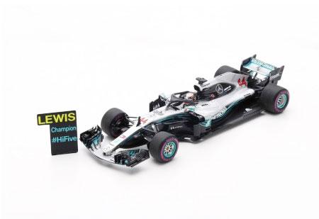 スパーク 1/43 メルセデスW09 L.ハミルトン 2018年メキシコGP 2018 Formula One Driver Champion (With pit board)