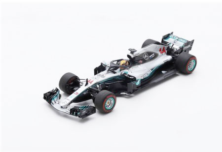 スパーク 1/43 メルセデスW09 L.ハミルトン 2018年アブダビGP優勝(408 points - Special package with tyre marks)