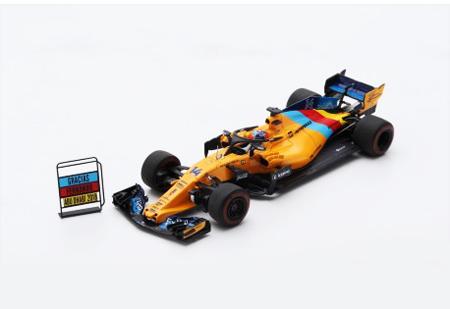 【2019/2月発売予定ご予約商品】当店オリジナル特典付 S6069 スパーク 1/43 マクラーレンMCL33 F.アロンソ 2018年アブダビGP Last Race - Special package with tyre marks