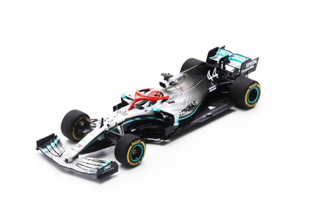 スパーク 1/43 メルセデスW10 L.ハミルトン 2019年モナコGP優勝 No.44