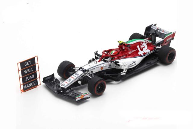 スパーク 1/43 アルファロメオF1 C38 A.ジョビナッティ 2019年イタリアGP No.99
