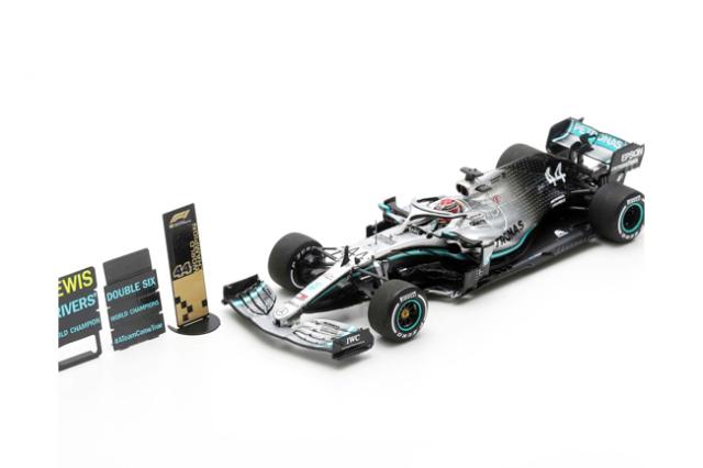 【2020/1月発売予定ご予約商品】スパーク S6099 1/43 メルセデスW10 L.ハミルトン 2019年アメリカGP2位 2019 Formula One Driver Champion Special Platform With Pit Board