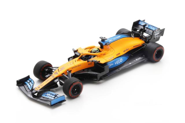 スパーク 1/43 マクラーレン MCL35 L.ノリス 2020年バルセロナテスト No.4