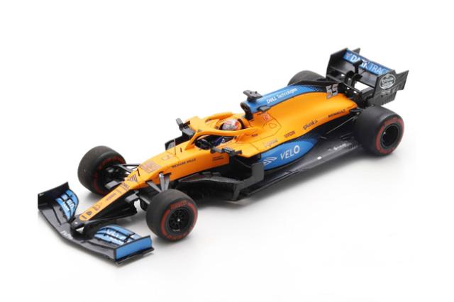 スパーク 1/43 マクラーレン MCL35 C.サインツJr 2020年バルセロナテスト No.55