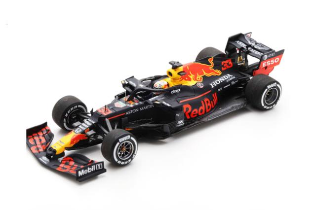 スパーク 1/43 レッドブルRB16 M.フェルスタッペン 2020年70周年記念GP 優勝PITボード付 No.33