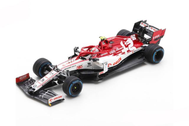 スパーク 1/43 アルファロメオF1 C39 A.ジョビナッティ 2020年トルコGP ザウバー500th Race No.99