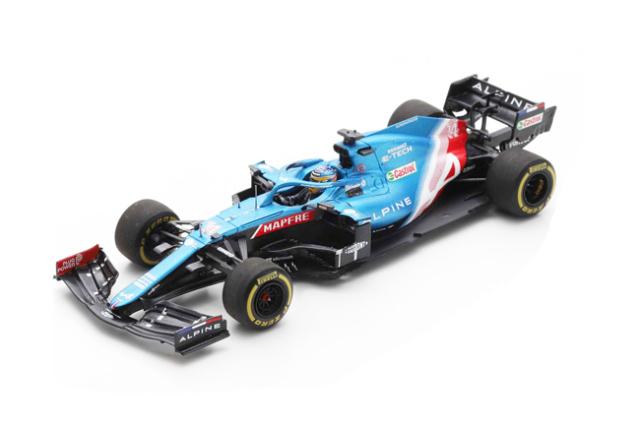 スパーク 1/43 アルピーヌ F1 A521 F.アロンソ 2021年バーレーンGP No.14
