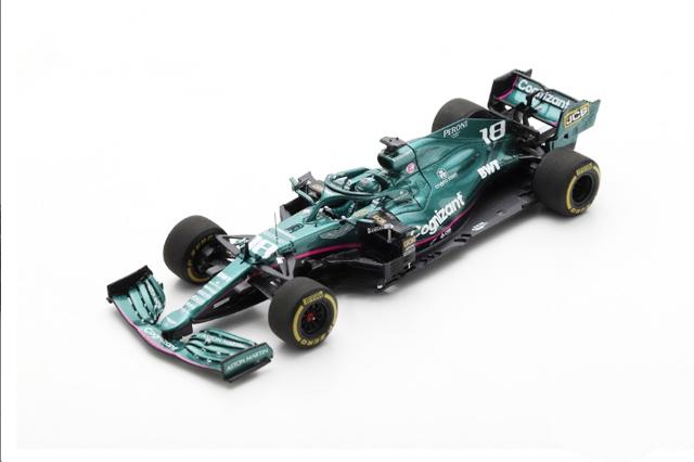 スパーク 1/43 アストンマーティン AMR21 L.ストロール 2021年バーレーンGP No.18