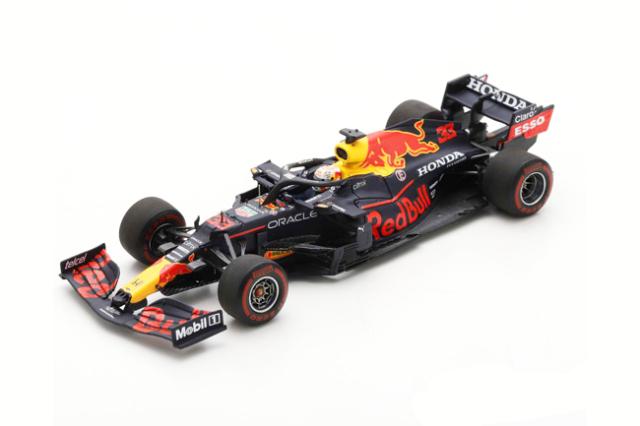 スパーク 1/43 レッドブル・ホンダ RB16B M.フェルスタッペン 2021年スペインGP2位 No.33 100th GP with Red Bull Racing