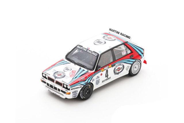 スパーク 1/43 ランチアデルタ HF インテグラーレ 1992年モンテカルロラリー優勝 No.4