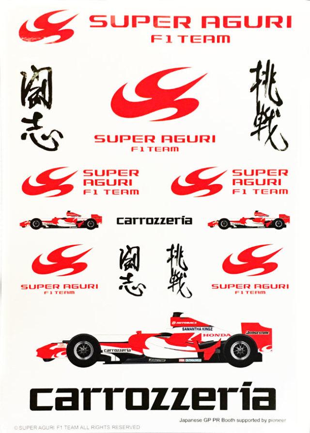 スーパーアグリ ホンダ 2007 ステッカーセット
