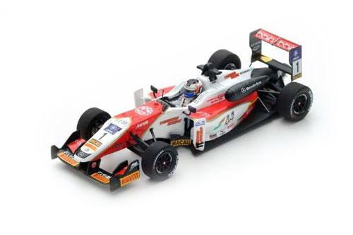 スパーク 1/43 ダラーラ メルセデス F3 SJM セオドールレーシング by Prema Powerteam F.ローゼンクビスト 2016年マカオGP2位