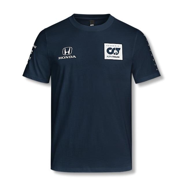 2020 アルファタウリ ホンダ チームレプリカTシャツ ネイビー