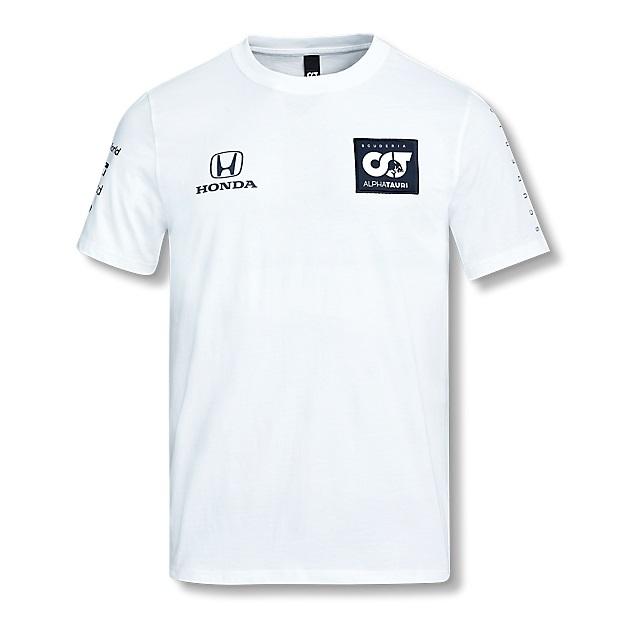 2020 アルファタウリ ホンダ チームレプリカTシャツ ホワイト