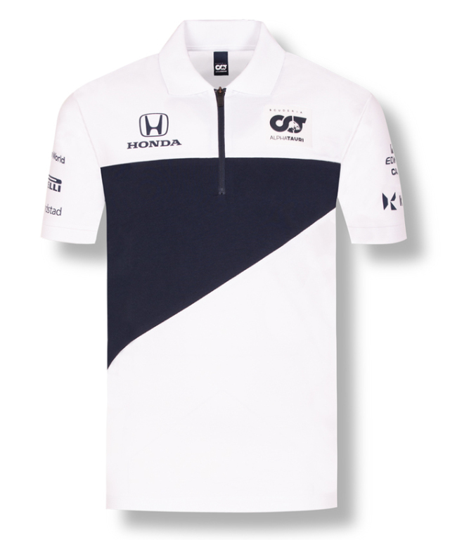 2021アルファタウリ・ホンダ チームポロシャツ ホワイト