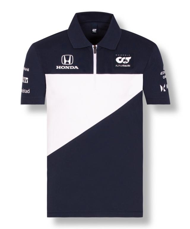2021アルファタウリ・ホンダ チームポロシャツ ネイビー
