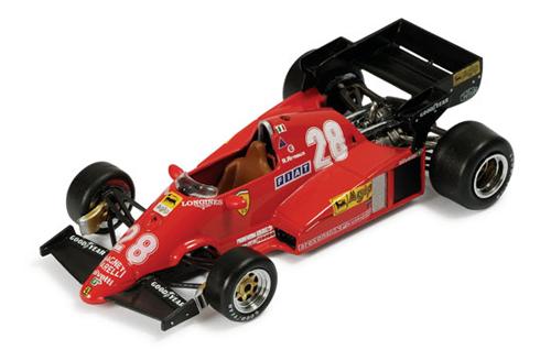 イクソ 1/43  フェラーリ  126C3 R.アルヌー 1983年ドイツGP ホッケンハイム 優勝 No.28