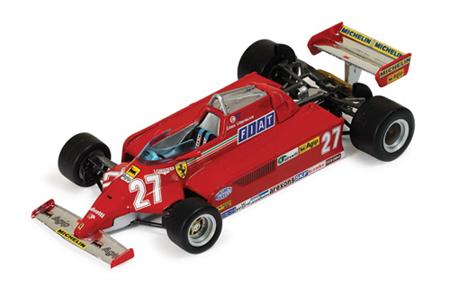 イクソ 1/43 フェラーリ 126CK  G.ビルニューブ  1981スペインGP ウィナー No.27