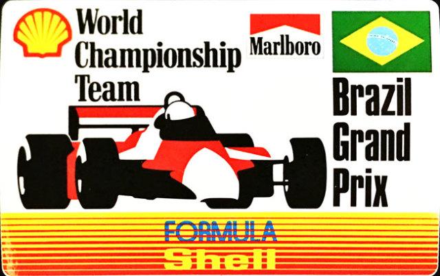 マルボロ (Marlboro)&シェル(Shell) 1990年代 ブラジルGP プロモーションステッカー