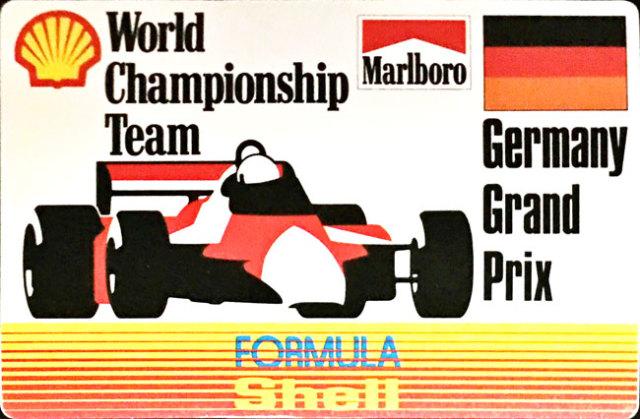 マルボロ (Marlboro)&シェル(Shell) 1990年代 ドイツGP プロモーションステッカー