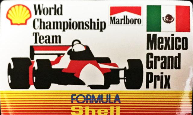 マルボロ (Marlboro)&シェル(Shell) 1990年代 メキシコGP プロモーションステッカー