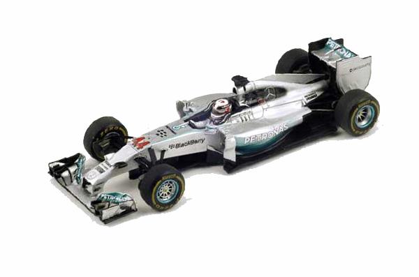 スパーク 1/43 メルセデス W06 L.ハミルトン 2015年日本GP優勝 No.44