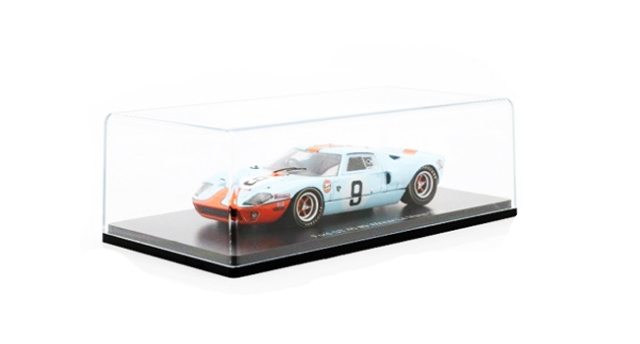 ルマン24時間レースカーコレクション(BOOK付属無モデルカーのみ)スパーク 1/43 フォードGT40 ガルフカラー 1968年ルマン24時間レース優勝 No.9