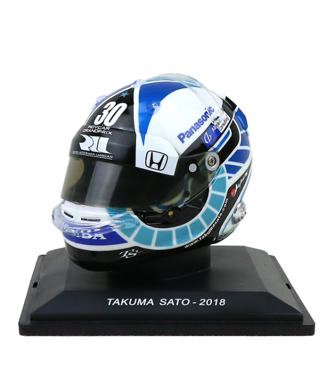 スパーク 1/5 佐藤琢磨 2018年 ヘルメット INDYCAR GP 2018