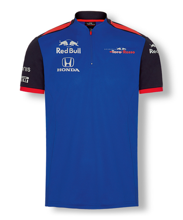 REDBULL TOROROSSO HONDA 2018 レッドブル・トロロッソ・ホンダ チームファンクショナルTシャツ