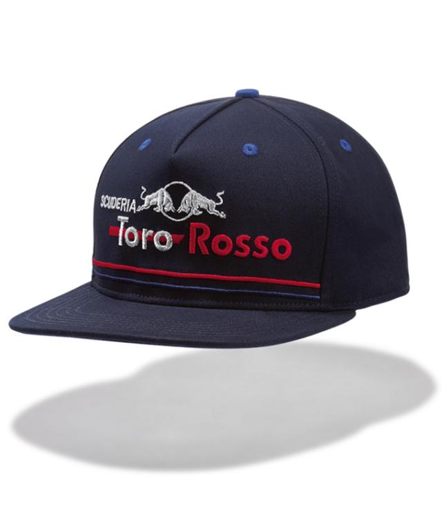REDBULL TOROROSSO HONDA 2018 レッドブル・トロロッソ・ホンダ チーム キャップ フラットタイプ