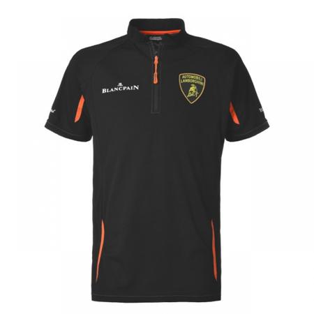 ランボルギーニ SUPERTROFEO ZIPポロシャツ ブラック