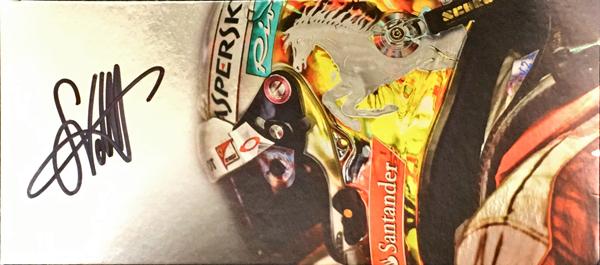 S.ベッテル 直筆サイン入 フェラーリ S.ベッテルプライベートカードTYPEB(カードの角が少し折れています)