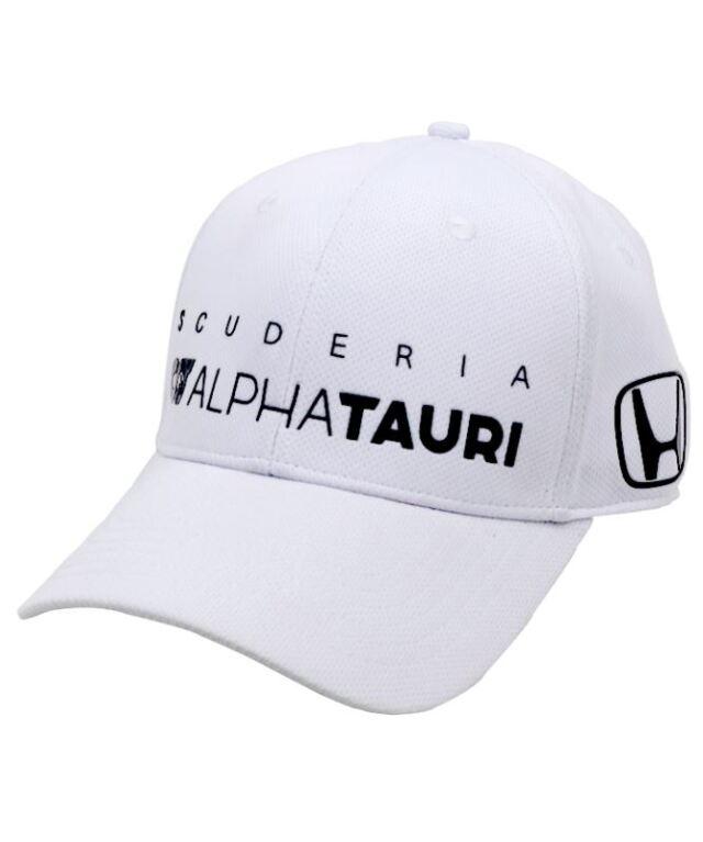 2020 アルファタウリ ホンダ チームレプリカキャップ ホワイト Hマーク入・ネイビー(Honda別注)
