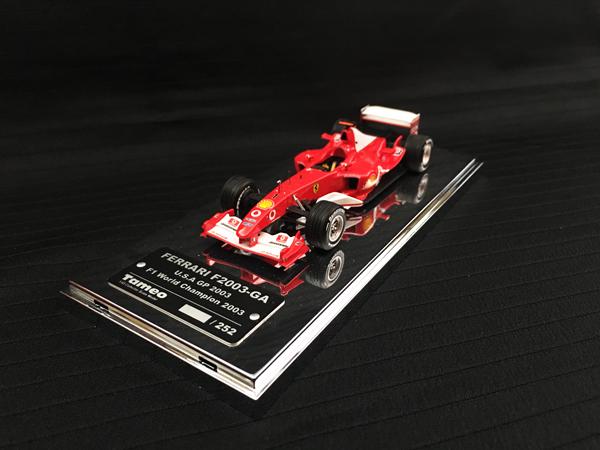 【絶版品】TAMEO(タメオ)完成品 1/43 フェラーリ F2003GA M.シューマッハ 2003年アメリカGP 252台限定
