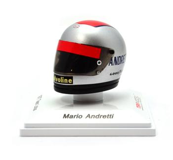 トゥルースケール 1/8 ミニヘルメット   マリオ・アンドレッティ 1977 Team Lotus